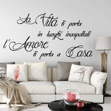 Italy Life Quote Vinyl Wall Decal Living Room Italian Life Brings You To Places Unexpected Quotes Wall Sticker Bedroom Kids G792 Wall Stickers Aliexpress