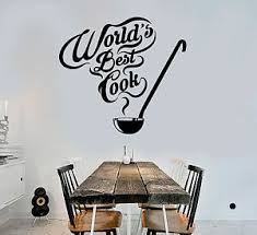 Vinyl Wall Decal Kitchen Quote Restaurant Chef Cook Stickers Mural Ig4178 Ebay
