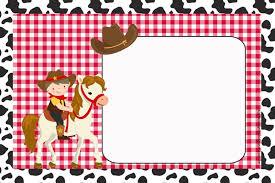 Plantillas Para Fiesta De Vaqueros Gratis Para Imprimir Fiesta