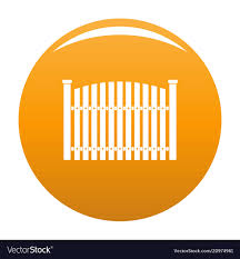 Wooden Fence Icon Orange Royalty Free Vector Image