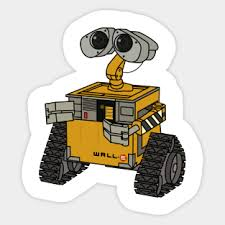 Wall E Stickers Teepublic