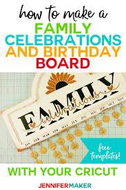 diy family celebration birthday board