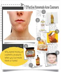 homemade cleansers to cure acne