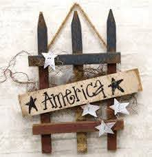 Stars Stripes Picket Fence Sign The Weed Patch