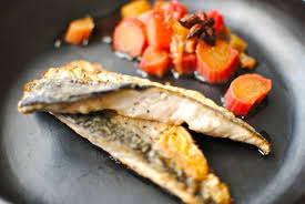 Sichuan Pepper Mackerel with Rhubarb ...