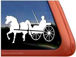 Custom Cart Horse Driving Decals Stickers Nickerstickers