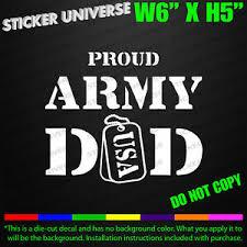 Proud Army Dad Car Window Decal Bumper Sticker Infantry Soldier Veteran Hero 144 Ebay