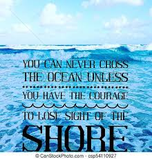 inspirational ocean image inspirational quote on scenic summer