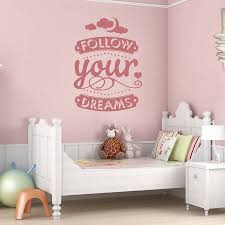 Follow Your Dreams Wall Decal Lovely Home Decor Bedroom Living Room Art Stickers Removable Vinyl Pure Color Wall Sticker Za185 Wall Sticker Colorful Wall Stickersdecoration Bedroom Aliexpress