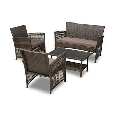 contemporary brown fabric upholstered