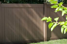 Chestnut Brown Future Outdoors Newest Vinyl Privacy Fence Color It Blends Into Your Yard But After Looking Ar Vinyl Fence Shade Structure Vinyl Privacy Fence