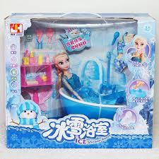 Hộp quà tặng búp bê ELsa, bồn tắm xịt nước thật và đồ dùng nhà tắm