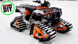 homemade atv tracks in action you