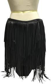 jitrois black lambskin leather fringe