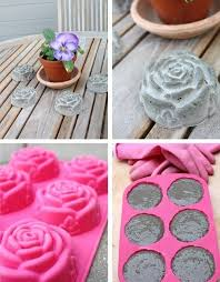 diy concrete garden decorations