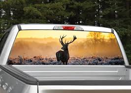 Buck Elk Sunset Rear Window Graphic Decal Perforated Etsy