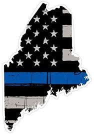 Amazon Com Maine State Cop Thin Blue Line Vinyl Yeti Tumbler Decal Sticker Automotive