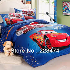 bed cartoon cars bedding set queen