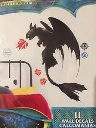 How To Train Your Dragon Hidden World Toothless Peel Stick Giant Wall Sticker Ebay