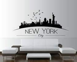 Large Nyc New York City Skyline Silhouette Bedroom Wall Art Sticker Wall Decal Ebay