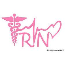 Ur Impressions Pnk Registered Nurse Rn Caduceus Lifeline Heart Decal Vinyl Sticker Graphics Car Truck Suv Van Wall Window Lapt