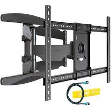 tv wall bracket mount double arm tilt