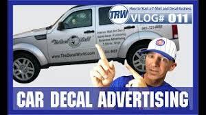 Vinyl Decal For Business Advertising On Cars Askmatt 011 Youtube