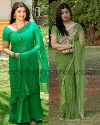 Aarthi Agarwal Green Sarees - Saree Blouse Patterns