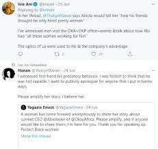 Abiola Oke, CEO of OkayPlayer resigns after multiple women took to Twitter  to accuse him of unethical conduct - Radio Stream - Latest Entertainment  and Breaking News