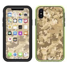 Skin Decal For Lifeproof Slam Iphone X Case Brown Desert Camo Camouflage Itsaskin Com