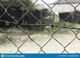 Blur Steel Fence Background Beautiful Line With Iron Stock Image Image Of Blur Border 181032979