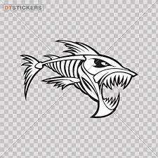 Amazon Com Vinyl Sticker Decal Angry Salmon Fish Skeleton R Atv Car Garage Bike 4 X 2 64 In Fully Waterproof Printed Vinyl Sticker Kitchen Dining