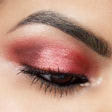 glitter red eyeshadow look tutorial