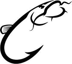 Amazon Com Catfish Fishing Hook Vinyl Decal Sticker Bumper Car Truck Window 6 Wide Gloss Silver Color Arts Crafts Sewing