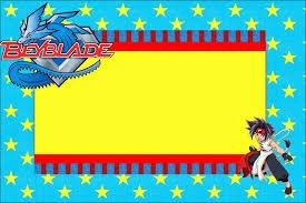 Beyblade Free Printable Invitations Tarjetas De Cumpleanos