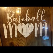 Wall Art Baseball Mom Vinyl Decal Poshmark