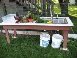 garden veggie wash station this idea