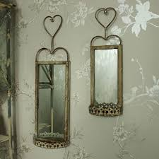 vintage wall hanging mirrors with shelf