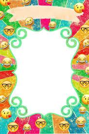 Convites Emoji Con Imagenes Cumpleanos De Emojis Invitaciones