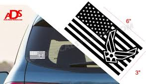 American Flag Air Force Car Sticker Window Decal Army Marines Etsy