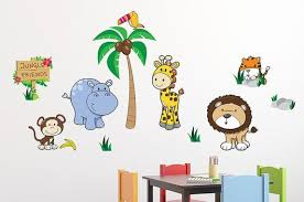 Jungle Friends Wall Decal Sticker Set Wall Decal Wallmonkeys Com