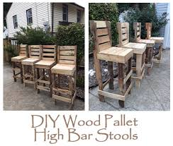 diy wood pallet high bar stools