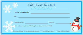 customized gift certificate template