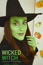 wicked witch costume makeup o