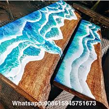 3d painting art clear resin for