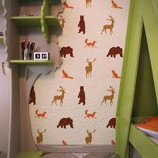 Forest Animals Nursery Wall Stencils Kids Room Wall Stencil Wall Stencilslab Wall Stencils