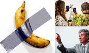 Duct-taped banana installations created by Maurizio Cattelan are selling  for up to $150,000