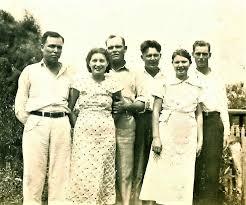 Mitchell Children-L to R- Claude, Helen, Jess, Oran, Mildred, Cecil