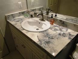 white veined concrete bathroom