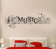 Wall Stickers Vinyl Decal Music Notes Rock N By Wallstickers4you ウォールステッカー 楽器 イラスト クリエイティブ